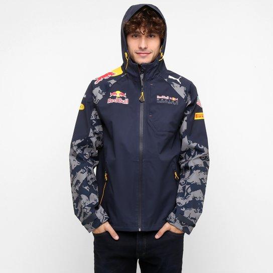 Jaqueta Puma Red Bull Team Rain - Marinho - Compre Agora  d397ba6602d