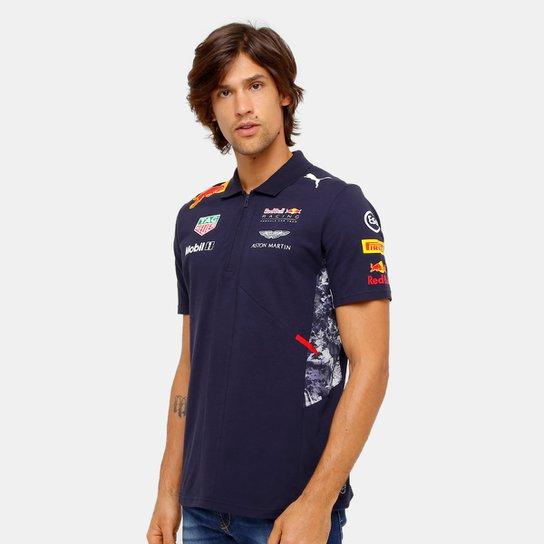 dbd11584337fa Camiseta Pólo Puma Red Bull Racing Team Masculina - Compre Agora ...