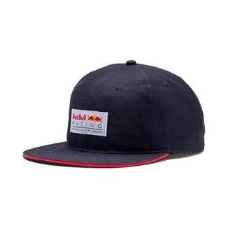 Boné Puma Red Bull Racing Aba Reta Lifestyle Flatbrim Masculino a72f18634e8