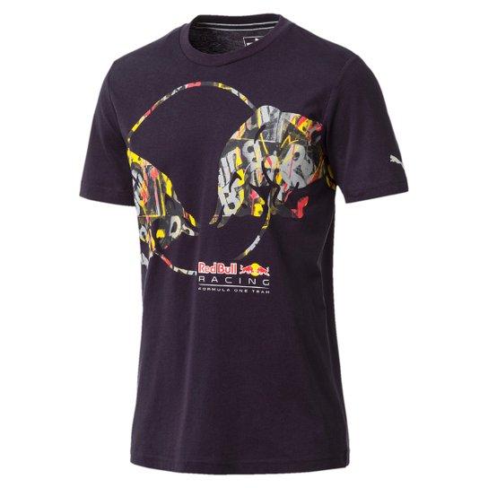Camiseta Puma Red Bull Racing Double Bull Tee Masculina - Marinho ... 6a922cb4155