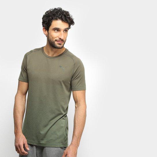 Camiseta Puma Evostripe Evoknit Seamless Masculina - Musgo - Compre ... b336773fd07ec