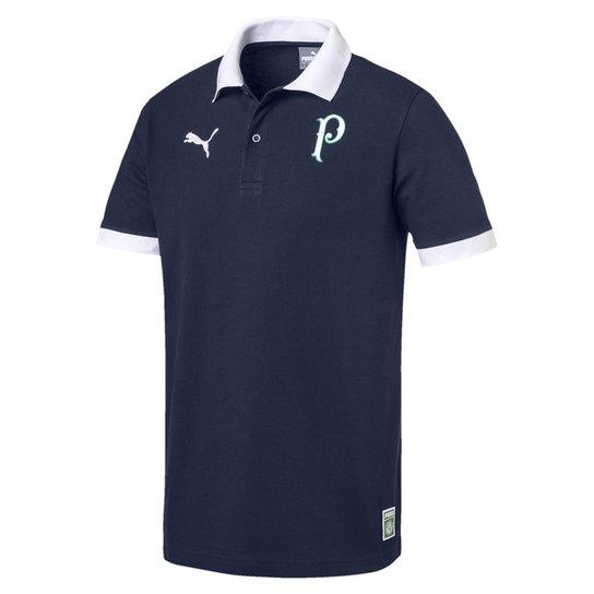7fdf9f25c79c5 Camisa Polo Palmeiras 2019 Puma Masculina - Marinho - Compre Agora ...