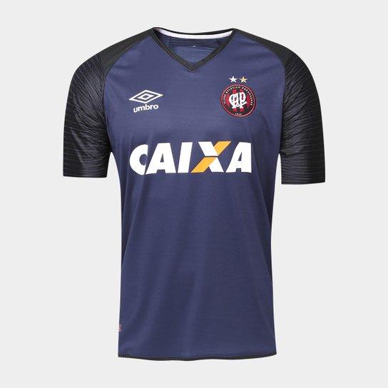 Camisa Athletico-PR Goleiro 17 18 s nº Torcedor Umbro Masculina - Marinho 4aafb47930518