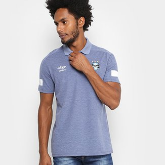 763be22102 Camisa Polo Grêmio Umbro Viagem 18 19 Masculina