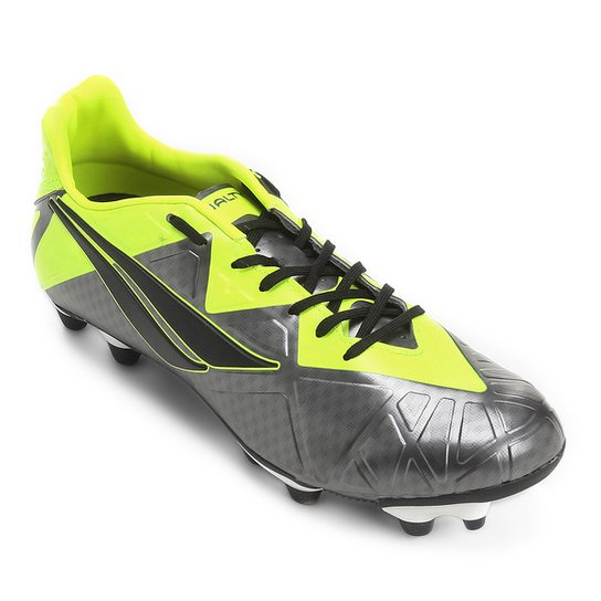 44715cfd3e Chuteira Campo Penalty Victoria Pro 7 Masculina - Chumbo e Amarelo ...