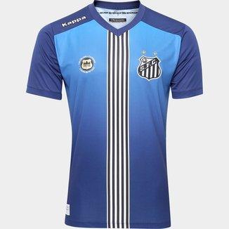Camisa Santos III 2016 s nº Torcedor Kappa Masculina b6f8e405654ea