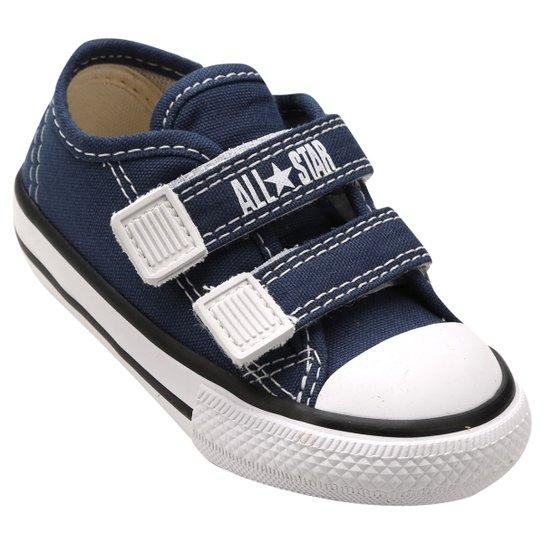 Tênis Infantil Converse All Star CT Border 2 Velcros Baby - Marinho ... 59e0472128d92