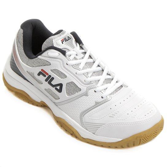 4df4a3ab8a21d Tênis Fila Top Spin - Branco e Marinho - Compre Agora   Netshoes