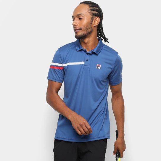 Camisa Polo Fila Bands Masculina - Marinho - Compre Agora  41e429a562c4a