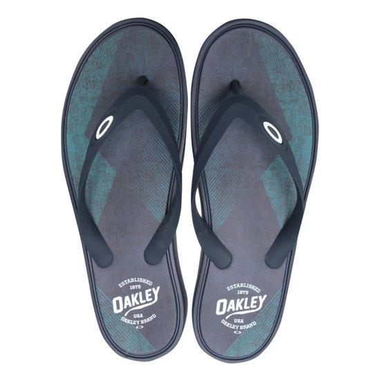92a88e701 Chinelo Oakley Splash Print Masculino - Marinho | Netshoes