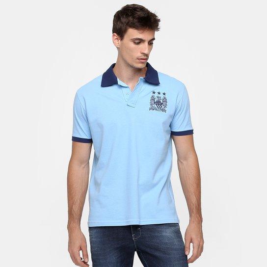 446401a69d Camisa Polo Manchester City 1 - Azul Claro+Marinho
