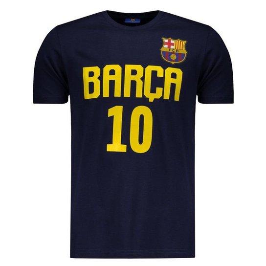 5b6f5ac3b79e1 Camiseta Barcelona Messi Masculina - Marinho - Compre Agora