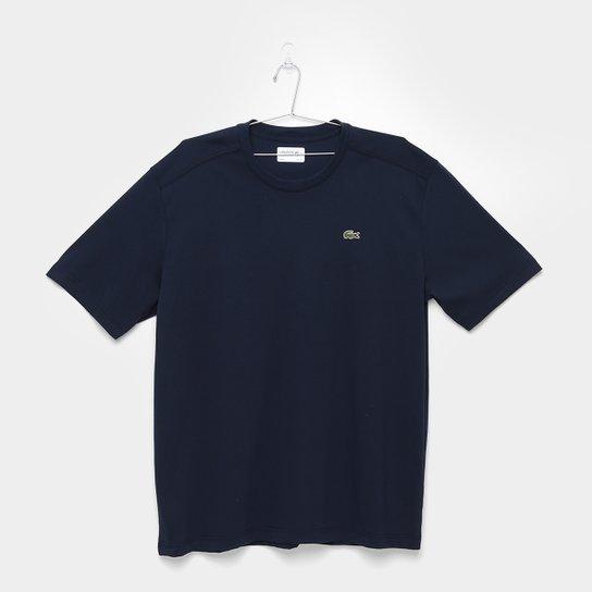 8af41a5250489 Camiseta Lacoste Gola Careca - Marinho - Compre Agora   Netshoes