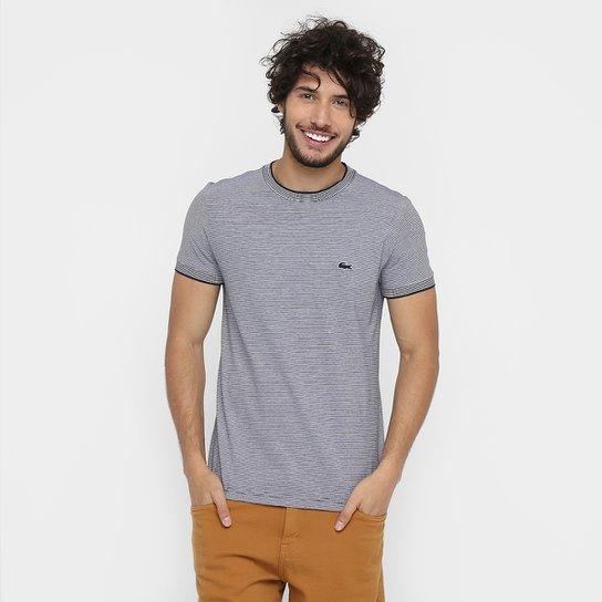 b4229b23795b5 Camiseta Lacoste Listras - Compre Agora   Netshoes