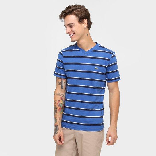 07979aa477 Camiseta Lacoste Listras - Compre Agora