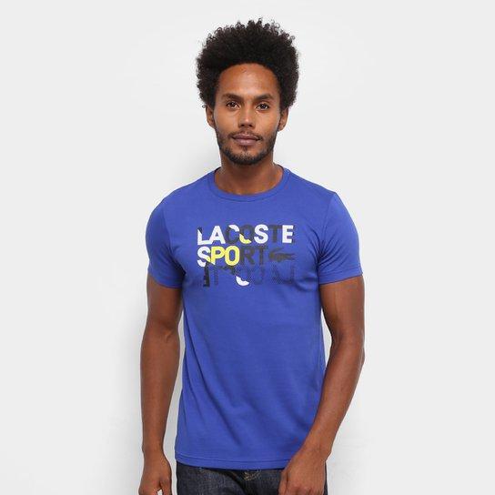 Camiseta Lacoste Sport Masculina - Marinho - Compre Agora   Netshoes 12476eba18