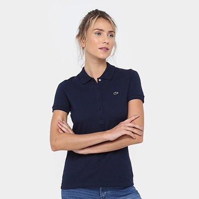 Camisa Polo Lacoste Logo Feminina
