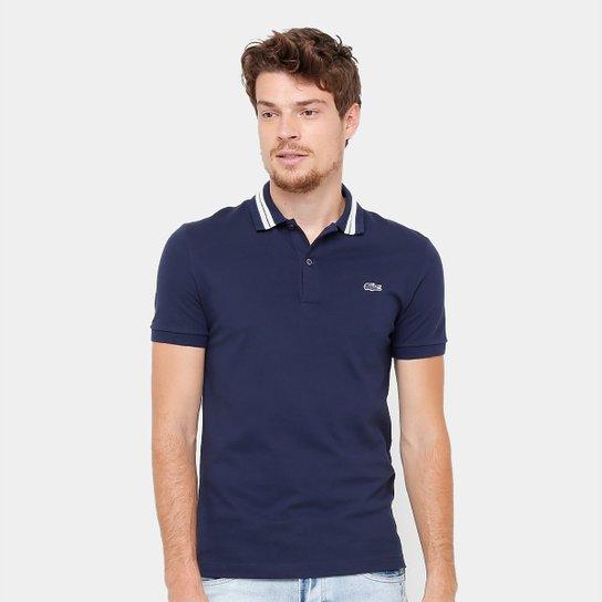 9793d6e5a5afc Camisa Polo Lacoste Piquet Slim Fit Rubber Croco Masculina - Compre ...