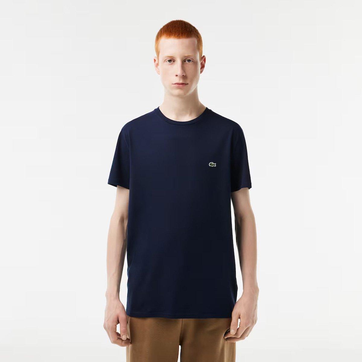18c16d18239 FornecedorNetshoes. Camiseta Lacoste Básica Jersey Masculina