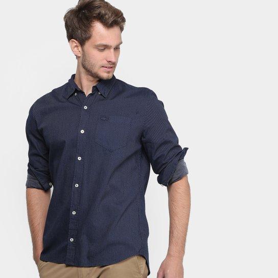 Camisa Social Lacoste Regular Fit Maquinetada Masculina - Compre ... c356560d0a