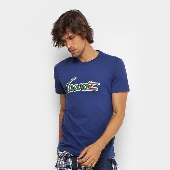 bd63504f98a Camiseta Lacoste Gola Careca New Logo Masculina - Compre Agora ...