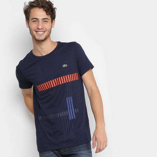 Camiseta Lacoste Sport Tennis Listrada Masculina - Compre Agora ... d9f35c7627