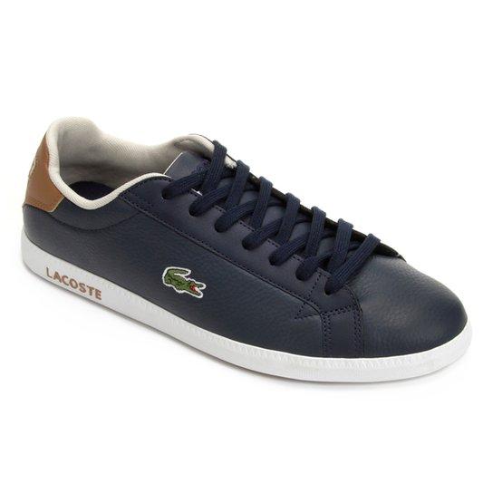 Tênis Lacoste Graduate Masculino - Marinho - Compre Agora   Netshoes e73afc1fb9