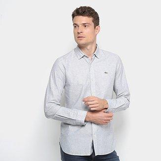 Camisas Casuais Lacoste   Netshoes 6ebf3165c2