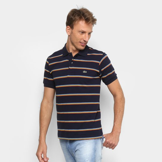 1cffebee2b8c3 Camisa Polo Lacoste Listrada Masculina - Compre Agora   Netshoes