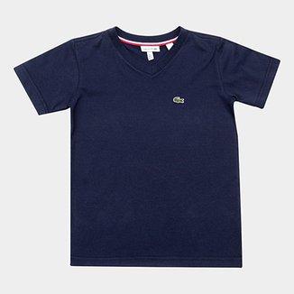 19bf18fb2db Camiseta Infantil Lacoste Masculina
