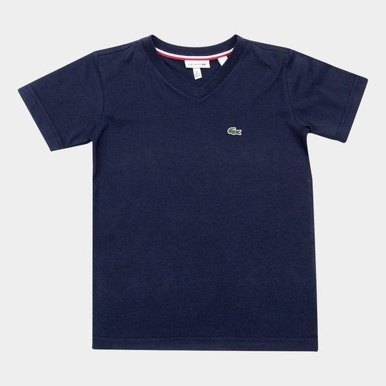 076d56490a4 Camiseta Infantil Lacoste Masculina - Marinho - Compre Agora