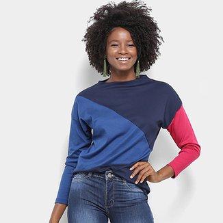 08546651be5cc Camiseta Lacoste Manga Longa Tricolor Feminina