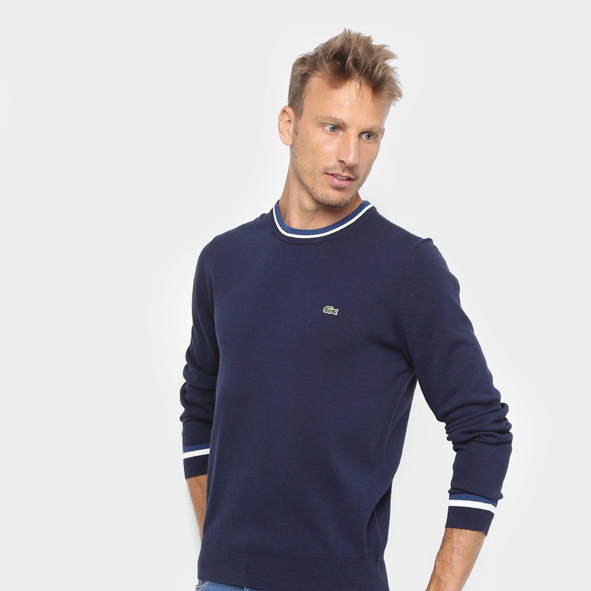 Foto 1 - Suéter em Tricô Lacoste Masculino