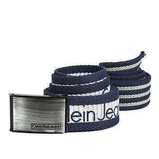 e6c71915927 Kit Cinto Calvin Klein Listrado Masculino 2 Peças