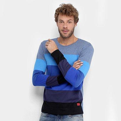 Malha Calvin Klein Tricot Color Listras Masculina