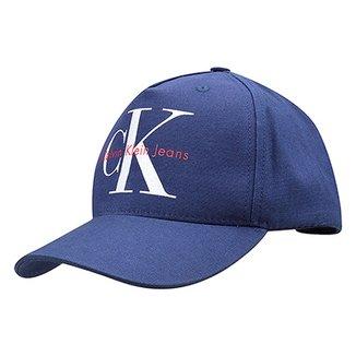 Boné Calvin Klein Aba Curva CK Masculino 63f744a59306a