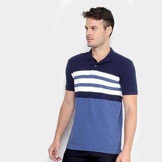 6e9865e19 Camisa Polo Calvin Klein Listrada Masculina