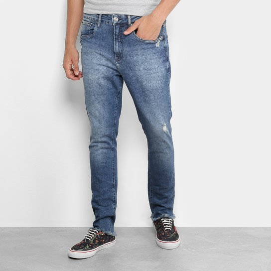 9563879e0 Calça Jeans Skinny Calvin Klein Five Pockets Athletic Masculina - Marinho
