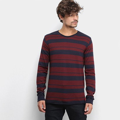 Malha Calvin Klein Sueter Listrado Bicolor Masculina