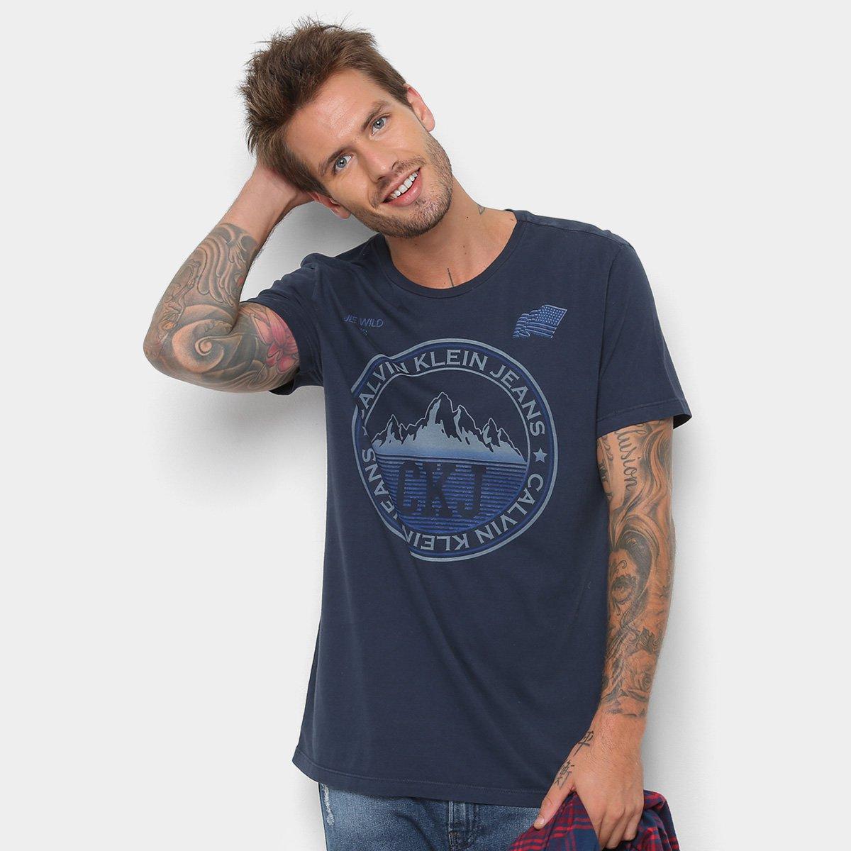3f7e6272d Camiseta Calvin Klein Estampa Montanha Masculina