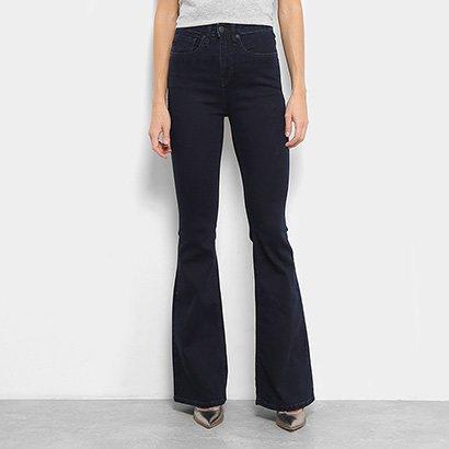7138bd5f6 Calça Jeans Flare Calvin Klein Lavagem Escura Cintura Alta Feminina