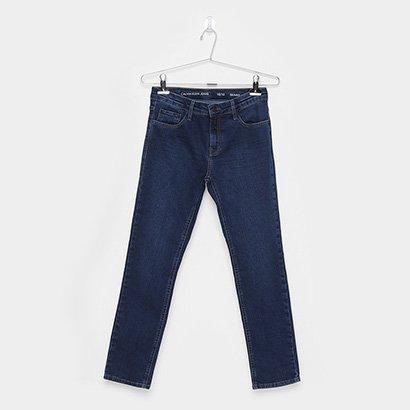 Calça Jeans Skinny Infantil Calvin Klein Five Pockets Masculina