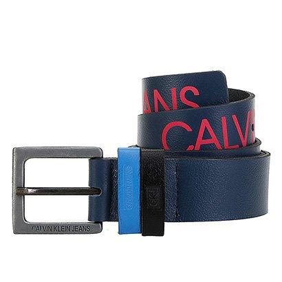 Cinto Couro Calvin Klein Logo Masculino