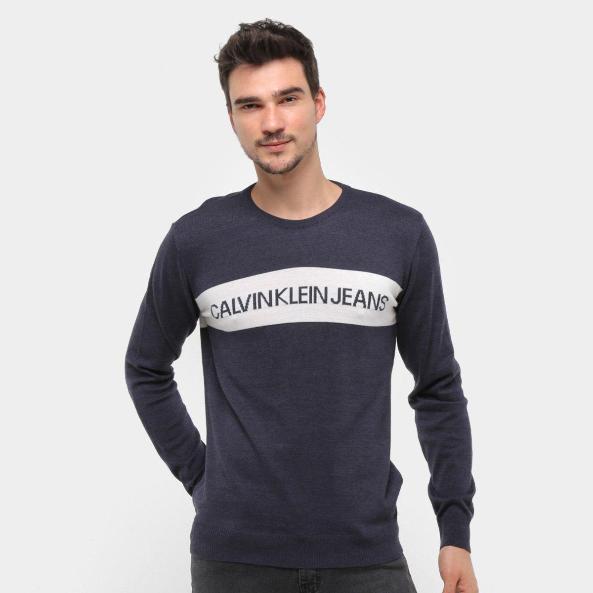Tricô Calvin Klein Jacquard Masculino