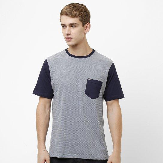 f90a62907b086 Camiseta Hurley Especial Staple - Cinza+Marinho ...
