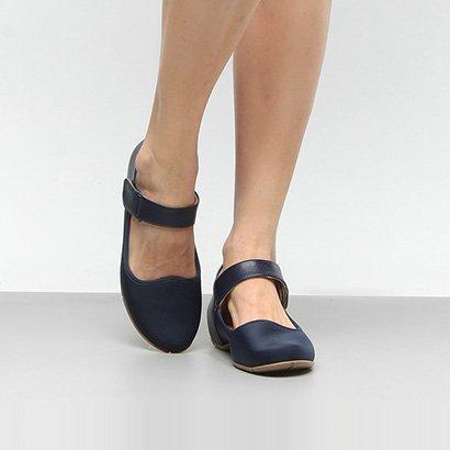 Sapatilha Comfortflex Pulseira Velcro Feminina