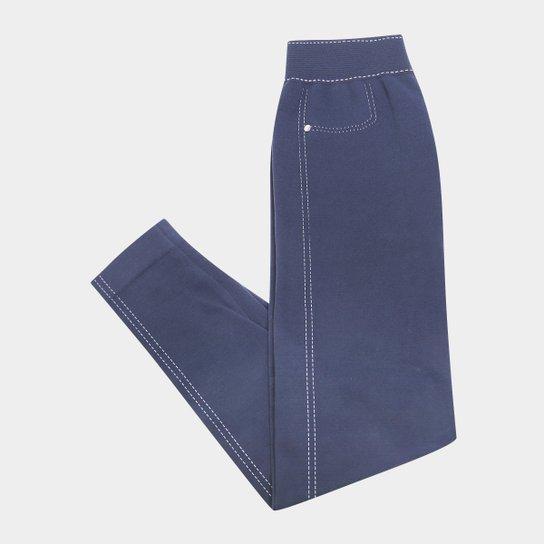 22a486bed Meia Calça Lupo Legging Jeans - Marinho