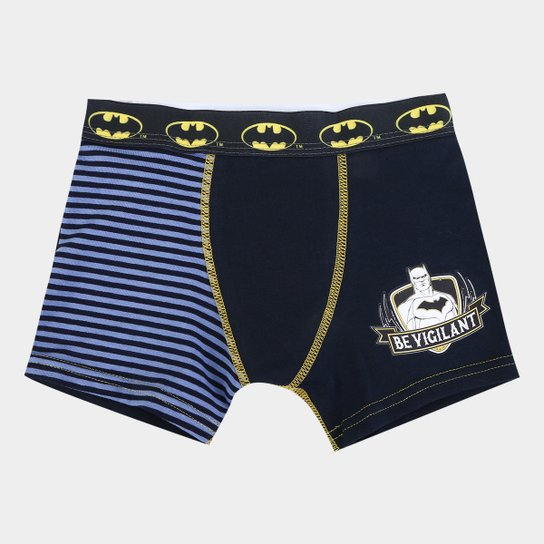8f11dda20dfbde Cueca Infantil Lupo Boxer Estampa Listras Batman - Marinho