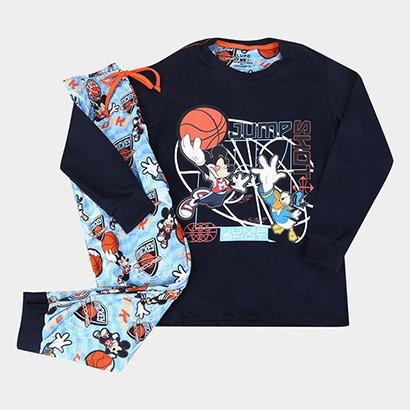 Pijama Infantil Longo Lupo Disney Mickey Masculino