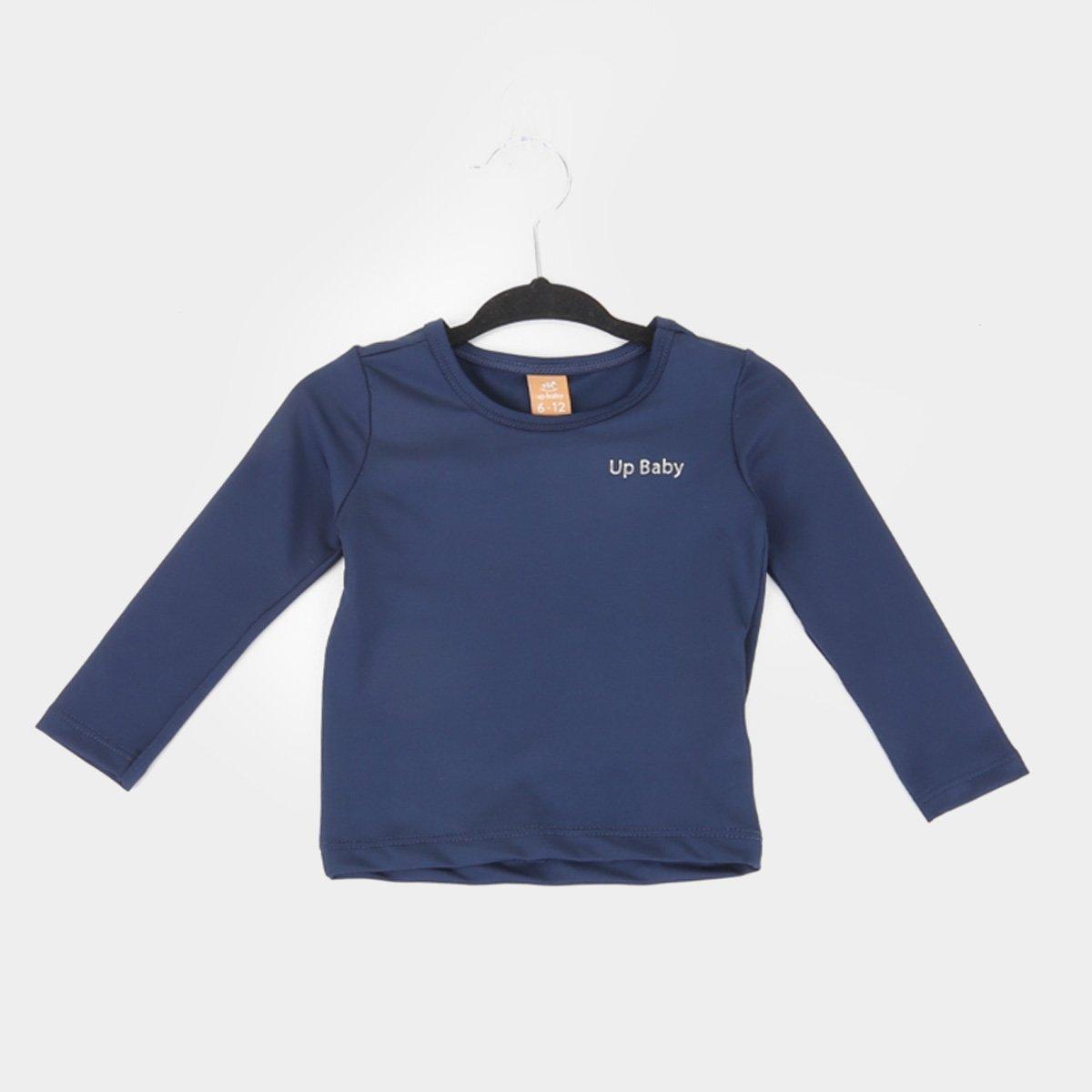 Camiseta Infantil Up Baby Proteção UV Manga Longa Feminina